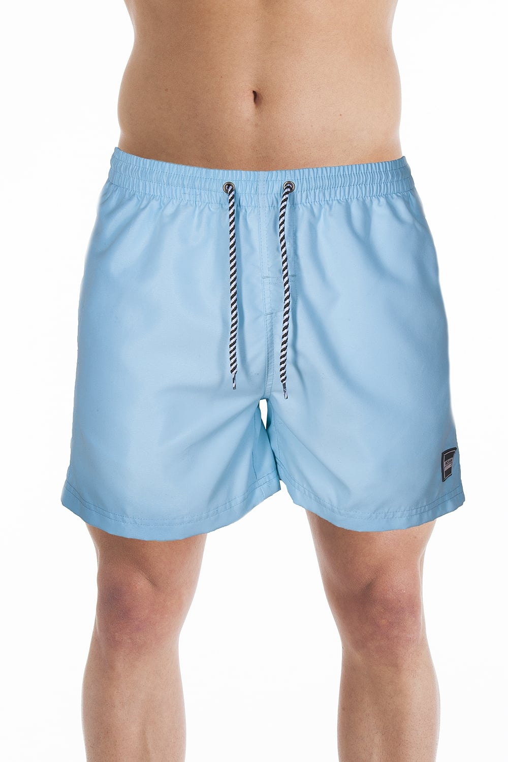 769169a40b INDIAN AFFAIRS Mens Light Blue Swimming Shorts