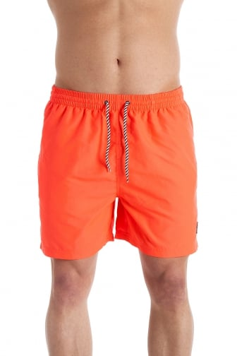 Mens Neon Coral Swimming Shorts