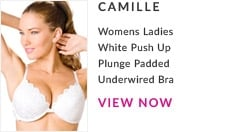 White Push Up Plunge Padded Underwire Bra