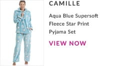 Aqua Blue Supershot Fleece Star Print