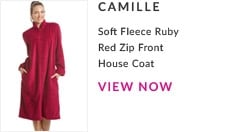 Soft Fleece Ruby Red Zip Front