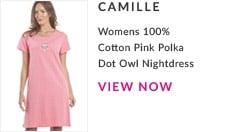 Womens Pink Polka