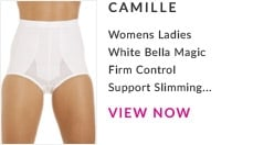Womens Ladies White Belle Magic