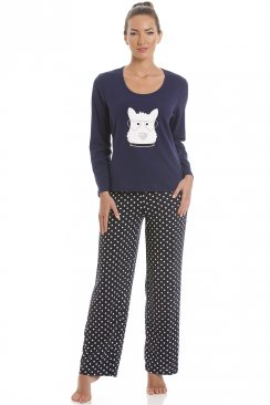 Navy Blue Scotty Dog Pyjama Set