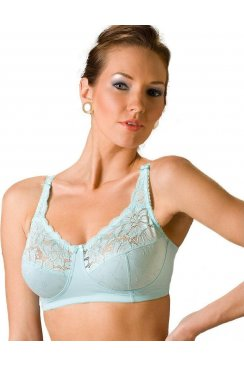 Non-Wired Full Cup Jacquard Blue Laced Bra