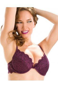 Padded Push Up Plunge Underwired Bra
