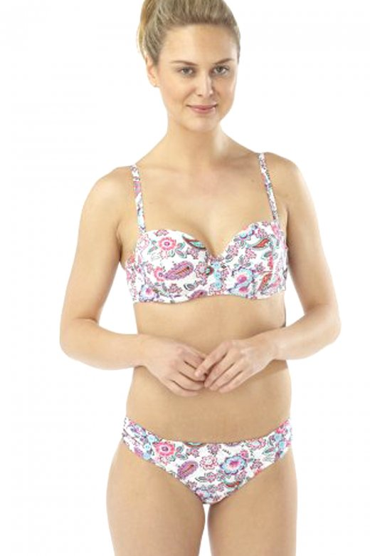 Camille Paisley Floral Print Moulded Bikini Set