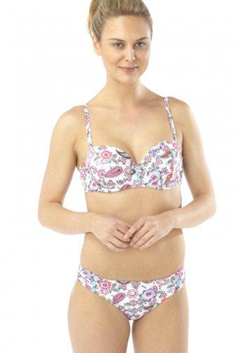 Paisley Floral Print Moulded Bikini Set