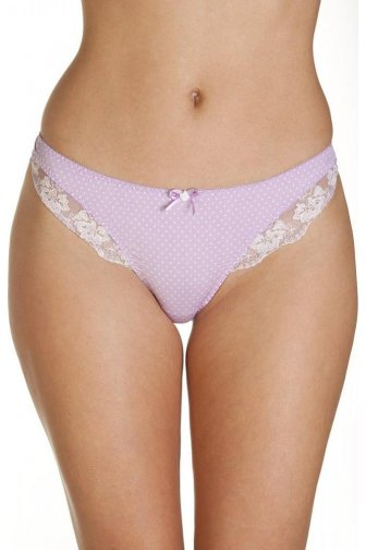 Pin Dot Lilac Print Thongs