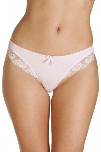 Pin Dot Print Pink Thongs