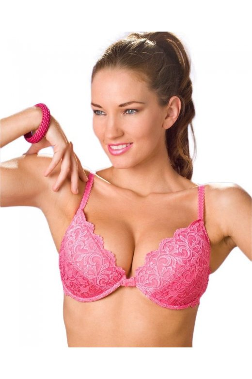 Pink Push Up Padded Underwired Bra