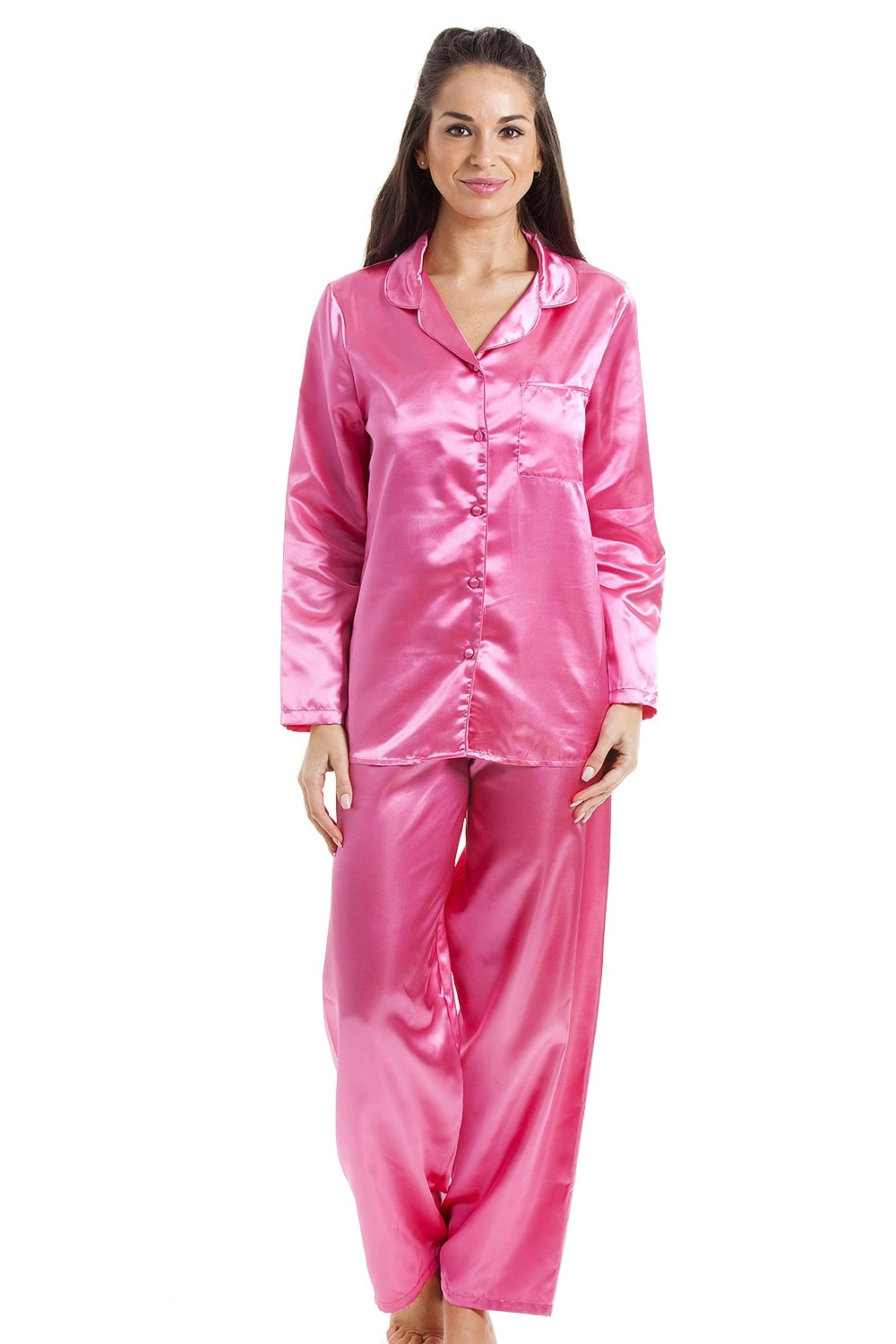 7 Pc Satin Nightwear Set in stretchable poly-knit satin fatalovely.cfns long nighty, long robe, top, full length pyjama, short nighty and a matching string bra brief fatalovely.cf makes a great gift set with its excellent drape, smooth feel and shiny fatalovely.cfed with a cute contrast lace fatalovely.cfes a piece for every mood and occasion.