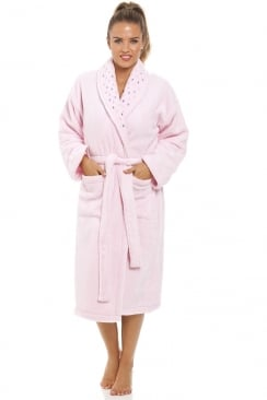 Pink Supersoft Fleece Bathrobe