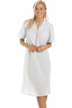 Camille Womens Blue Deluxe Nightdress
