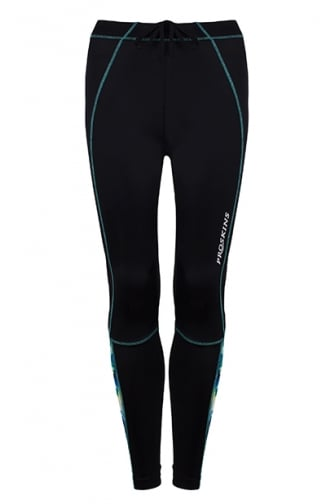 Proskins Black & Green Active Running Leggings