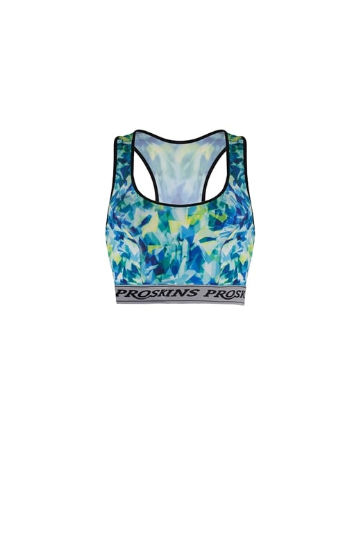 Proskins Stay Fresh Silver Green & Yellow Micro Climate Sports Bra