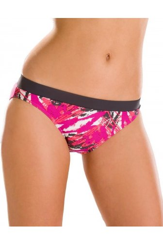 Purple Print Swimwear Beach Womens Bikini Briefs
