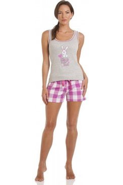 Rabbit Print Short Pyjama Set