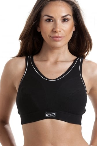 Black Maximum Support Impact Free Sports Bra