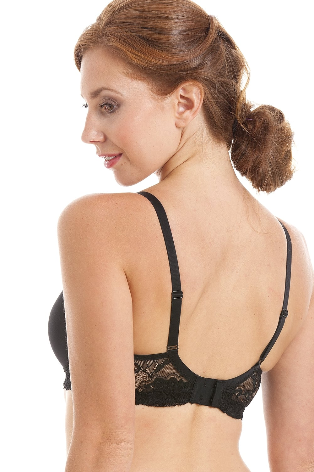 295b7f0ead Royce Lingerie Black Non Wired Pocketed Moulded Cup Mastectomy Bra