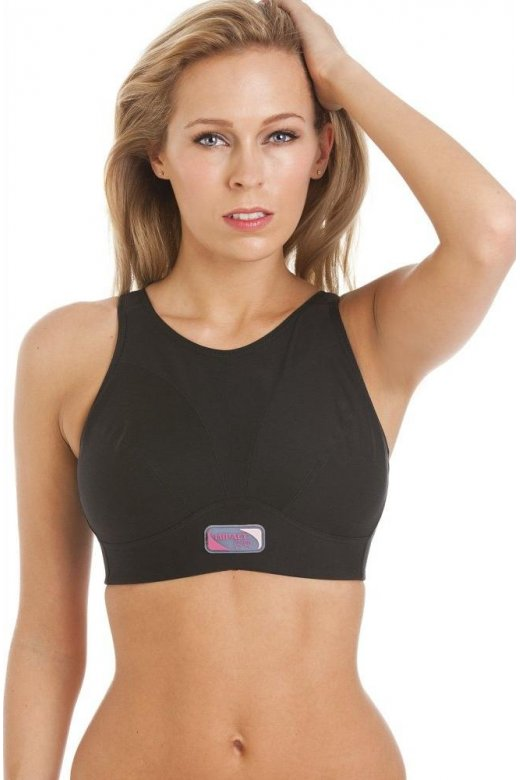 Royce Lingerie Womens Black Maximum Support Impact Free Sports Bra D-FF
