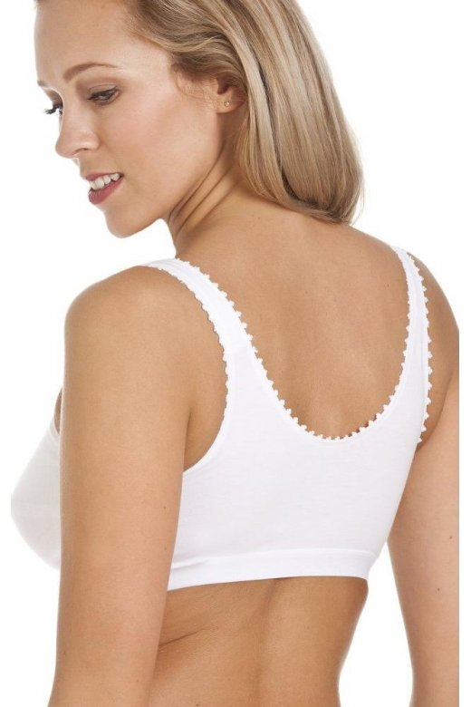 938c27a578 Royce Lingerie Womens White Non Wired Front Fastening Comfi Bra
