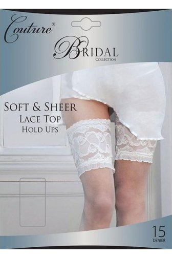 Couture Luxury Bridal Collection Sheer Lace Top Hold Ups
