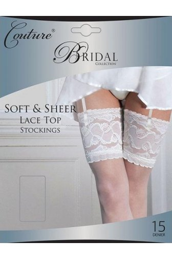 Couture Luxury Bridal Collection Sheer Lace Top Stockings