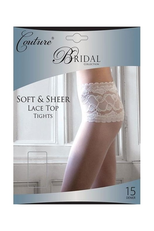 Silky Couture Luxury Bridal Collection Sheer Lace Top Tights