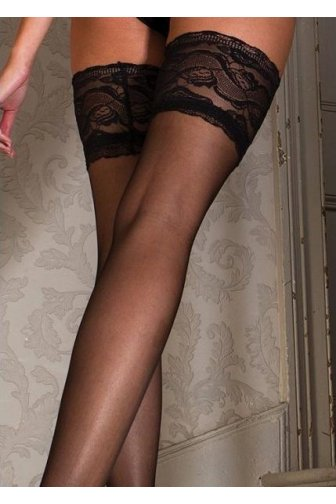 Couture Vixen Range Sheer Lace Top Hold Ups