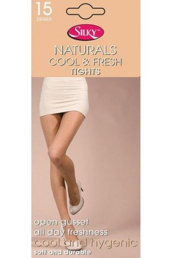 Naturals Cool And Fresh Open Gusset 15 Denier Tights