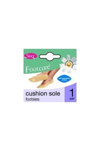 One Pair Cushion Sole Footies One Size In Beige