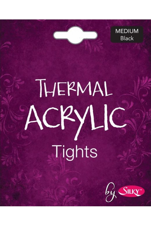 Silky Womens Thermal Acrylic Tights Black Size S-XL
