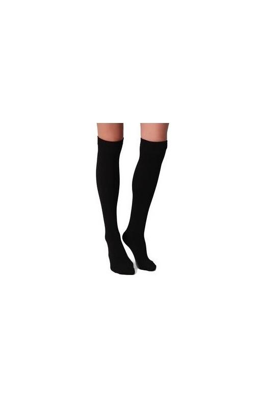 Soft Velvet Touch Thermal Fleece Black Knee High Socks