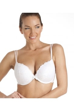 Super Boost Padded Push Up White Underwire Bra