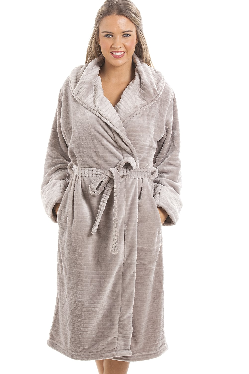 Camille Super Soft Fleece Grey Dressing gown c1e548f8d