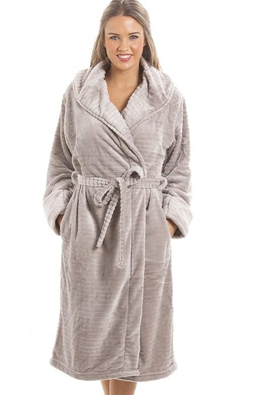 7dfcc50109 Super Soft Fleece Grey Dressing gown.