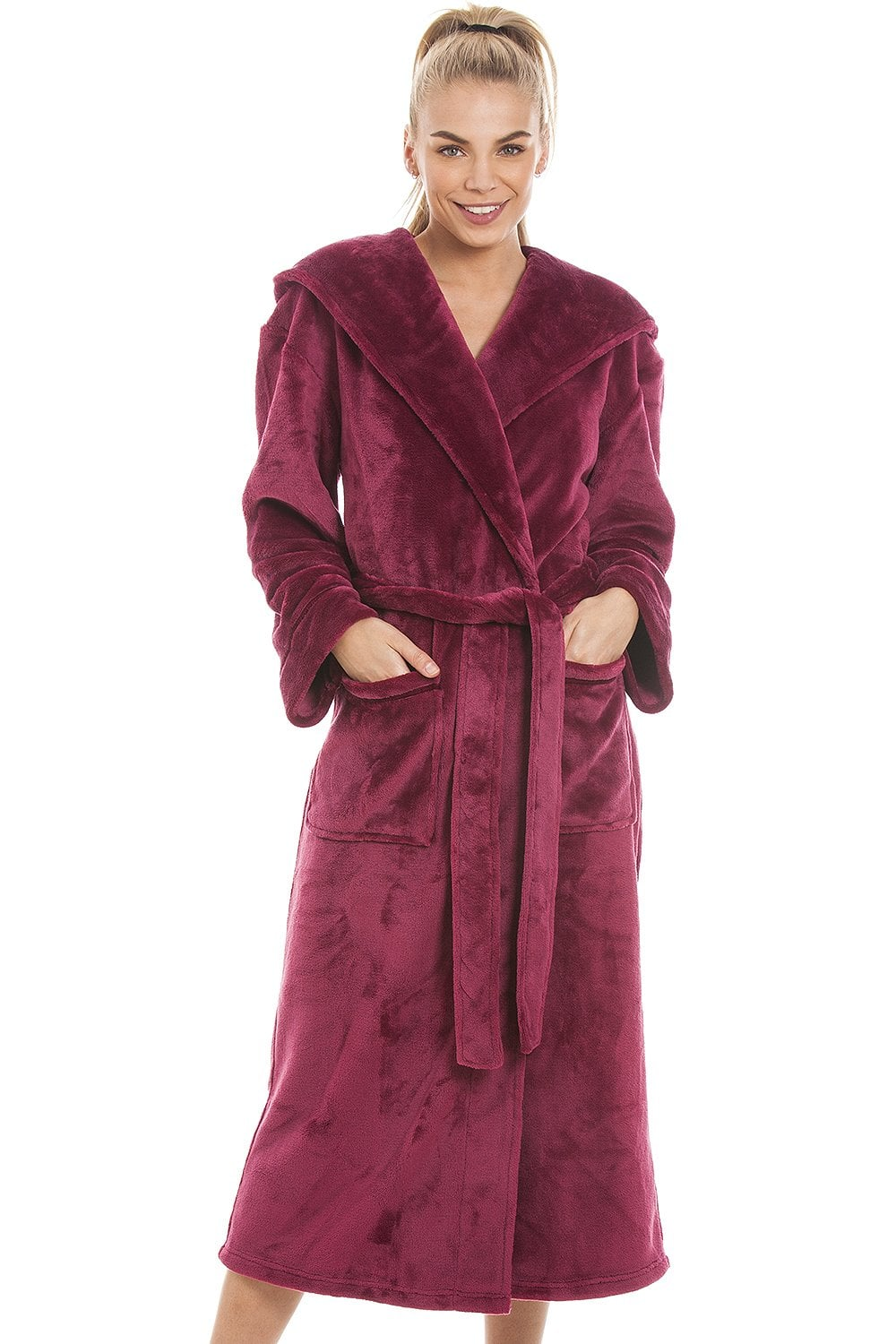 b348e0a918 Camille Super Soft Fleece Ruby Red Dressing gown
