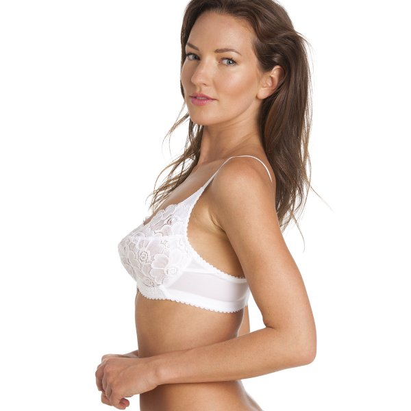 Underwired Bras › Camille › Underwired Floral Lace Full Cup Bra ...