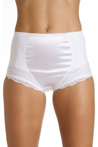 White Control Full Lace Shapewear Briefs