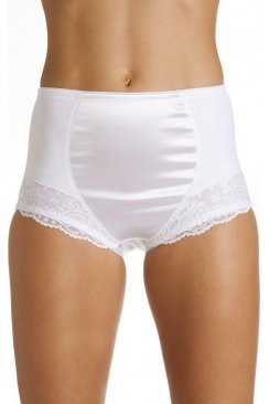 White Control Lace Shapewear Briefs