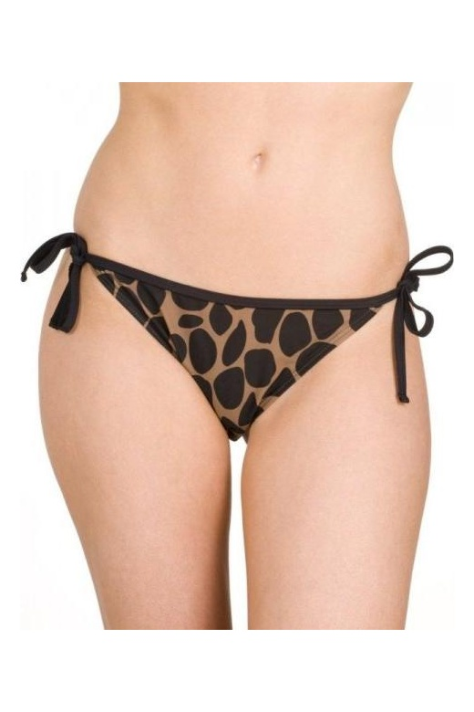 Womens Animal Print Tie Side Bikini Brief