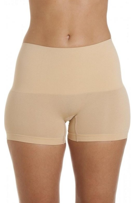 Camille Womens Beige Seamfree Shapewear Comfort Control Short