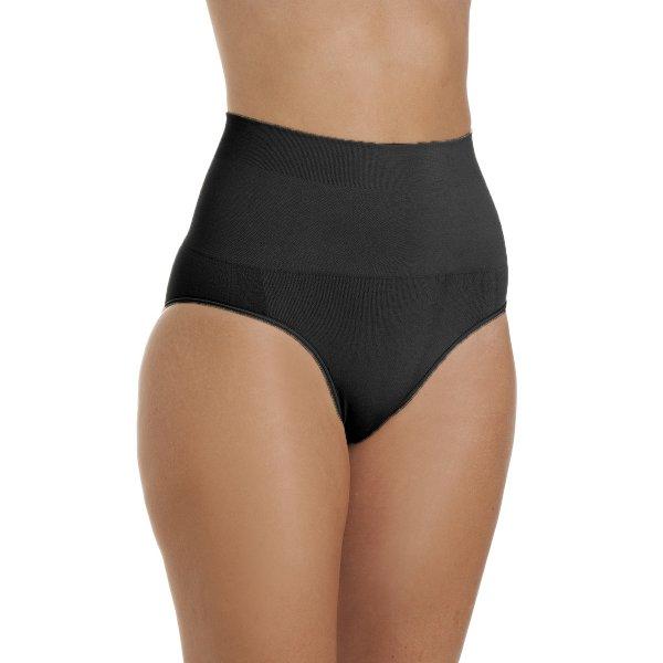 5e8cb1328ddb1 Camille Womens Black Seamfree Shapewear Comfort Control Brief