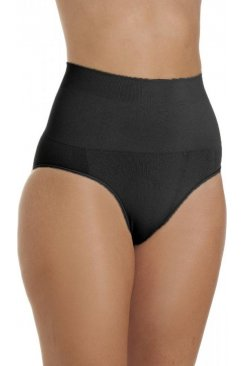 Womens Black Seamfree Shapewear Comfort Control Brief