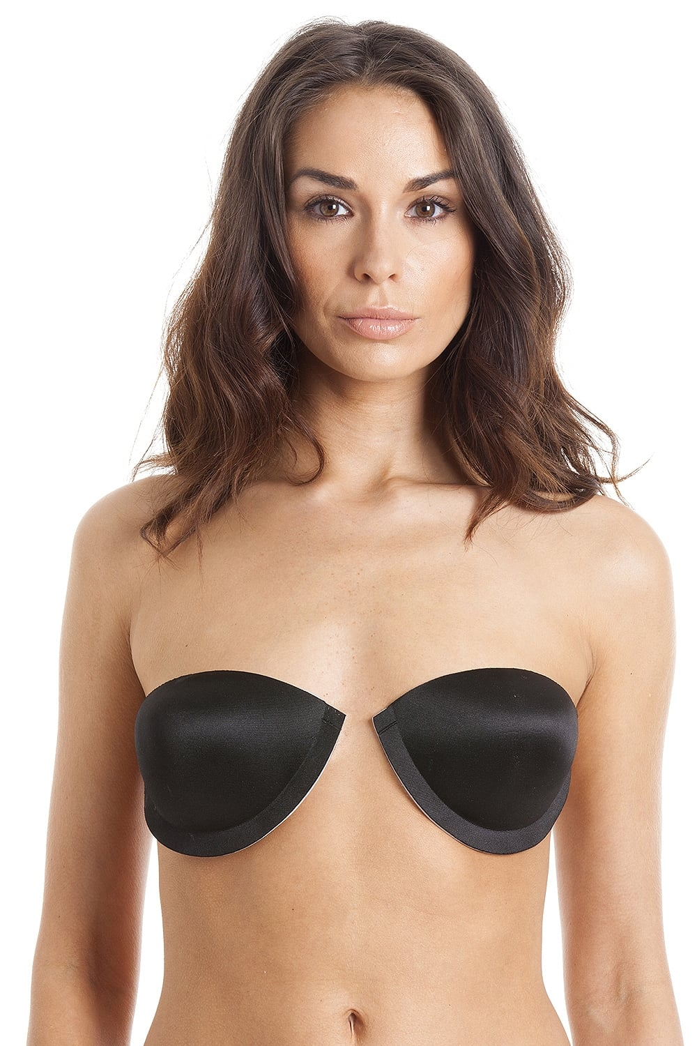79c3fdbabad87 By Wishes Womens Black Self Adhesive Staykup Bra