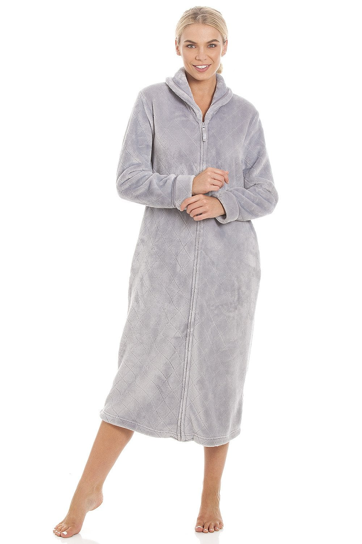 Ex-Store Ladies Fleece Long Sleeve Nightie//Nightdress Pink