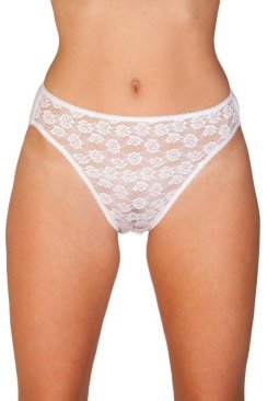 Womens Floral Lace Front High Leg Briefs