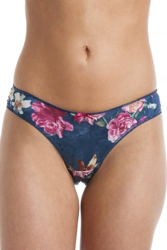 Womens Florence Teal Green Floral Briefs
