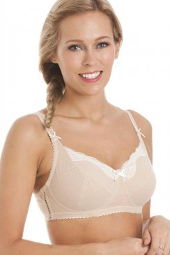 Womens Gorgeous Non Wire Soft Cup Isabella Cream Support Bra
